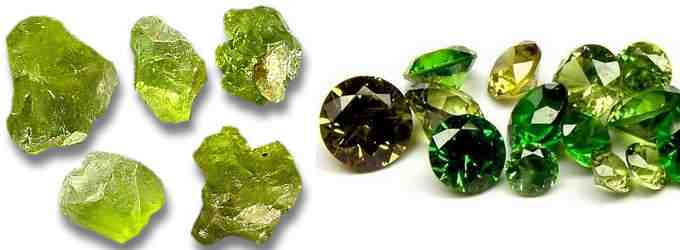 Камень хризолит Разновидности