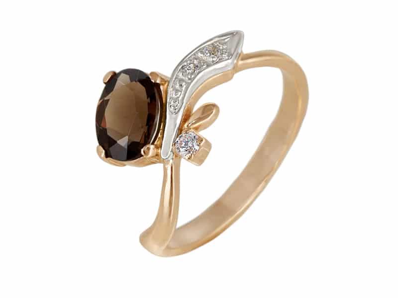 кольцо с раухтопазом 2
