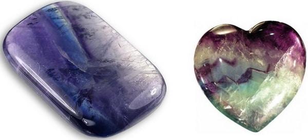 обработанный камень флюорит