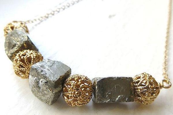 ожерелье с пиритом