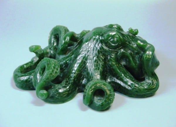 осьминог из нефрита