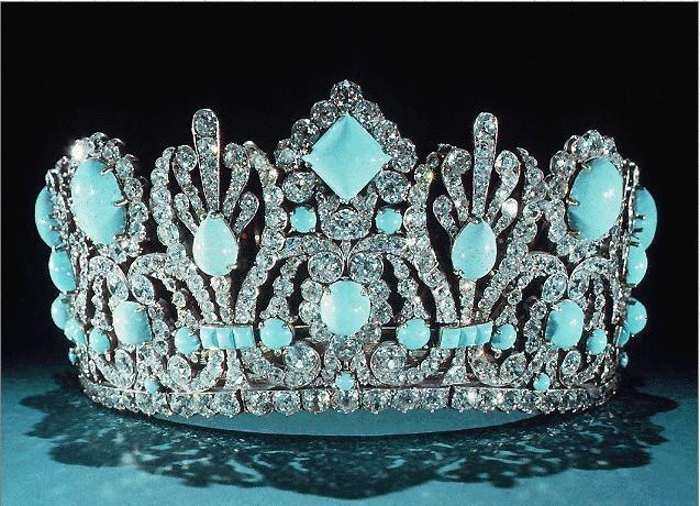 Корона с бирюзой
