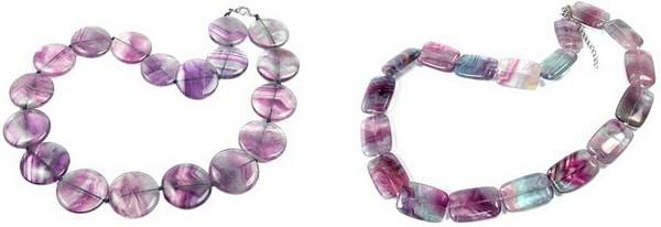 ожерелья из флюорита