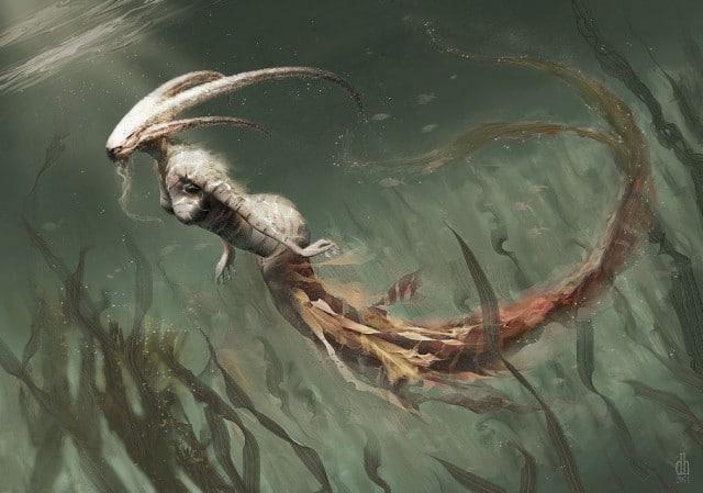 Козерог под водой