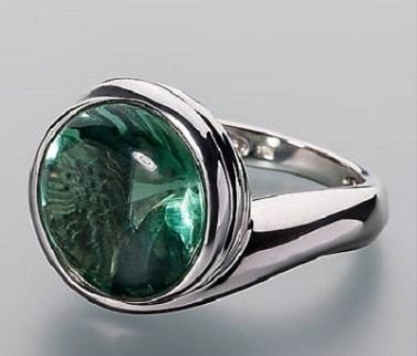Кольцо с флюоритом