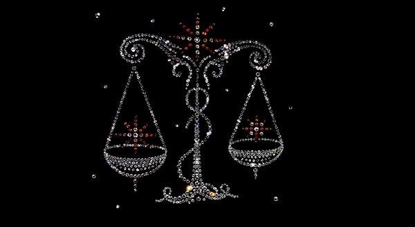 весы знак зодиака из бисера