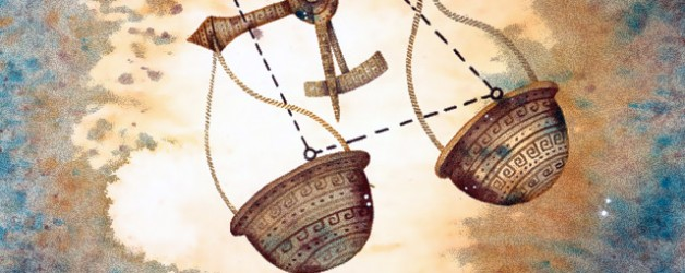 весы знак зодиака рисунок