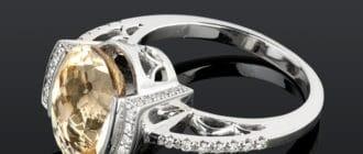 Кольцо с гелиодором 2