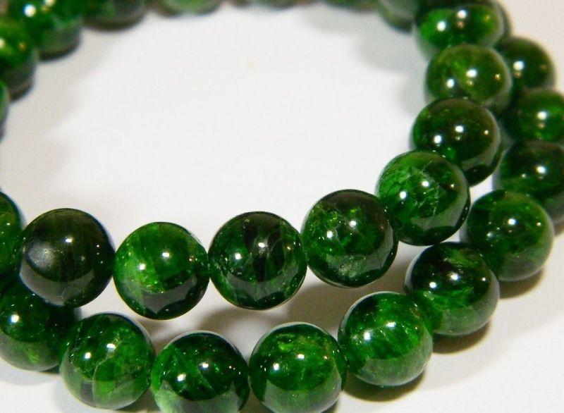 Ожерелье из хромдиопсида