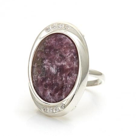 кольцо с лепидолитом